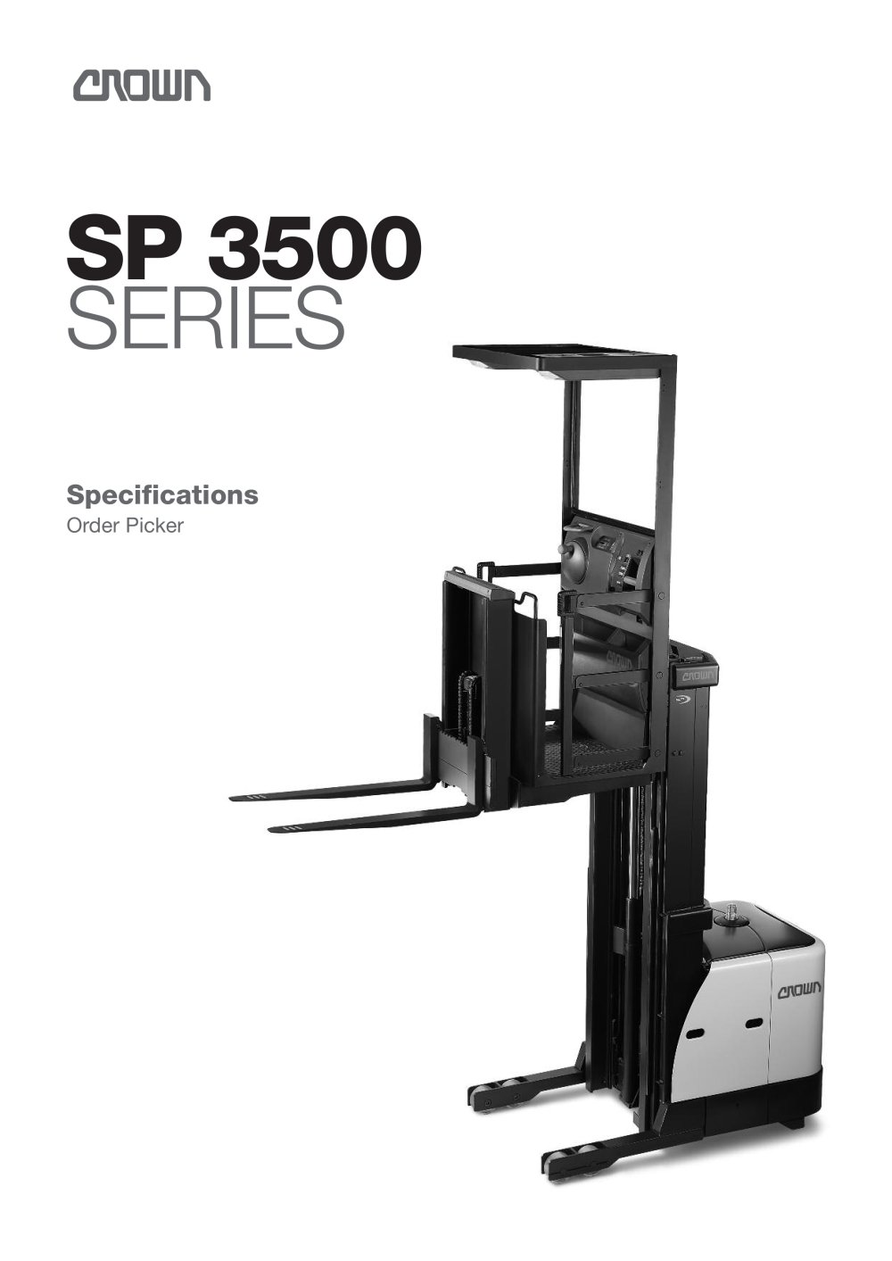 Order picker SP 3500 - CROWN - PDF Catalogue | Technical ...