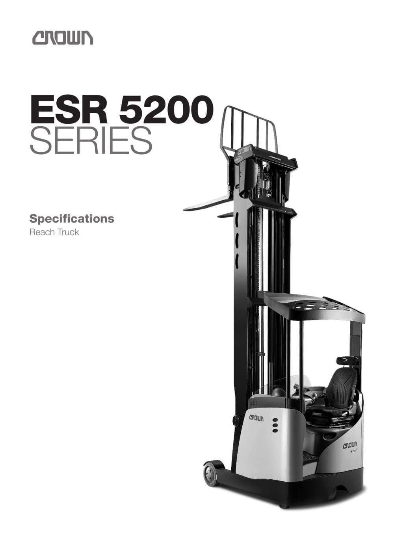 Reach Truck ESR 5200 Spec Sheet - 1 / 14 Pages