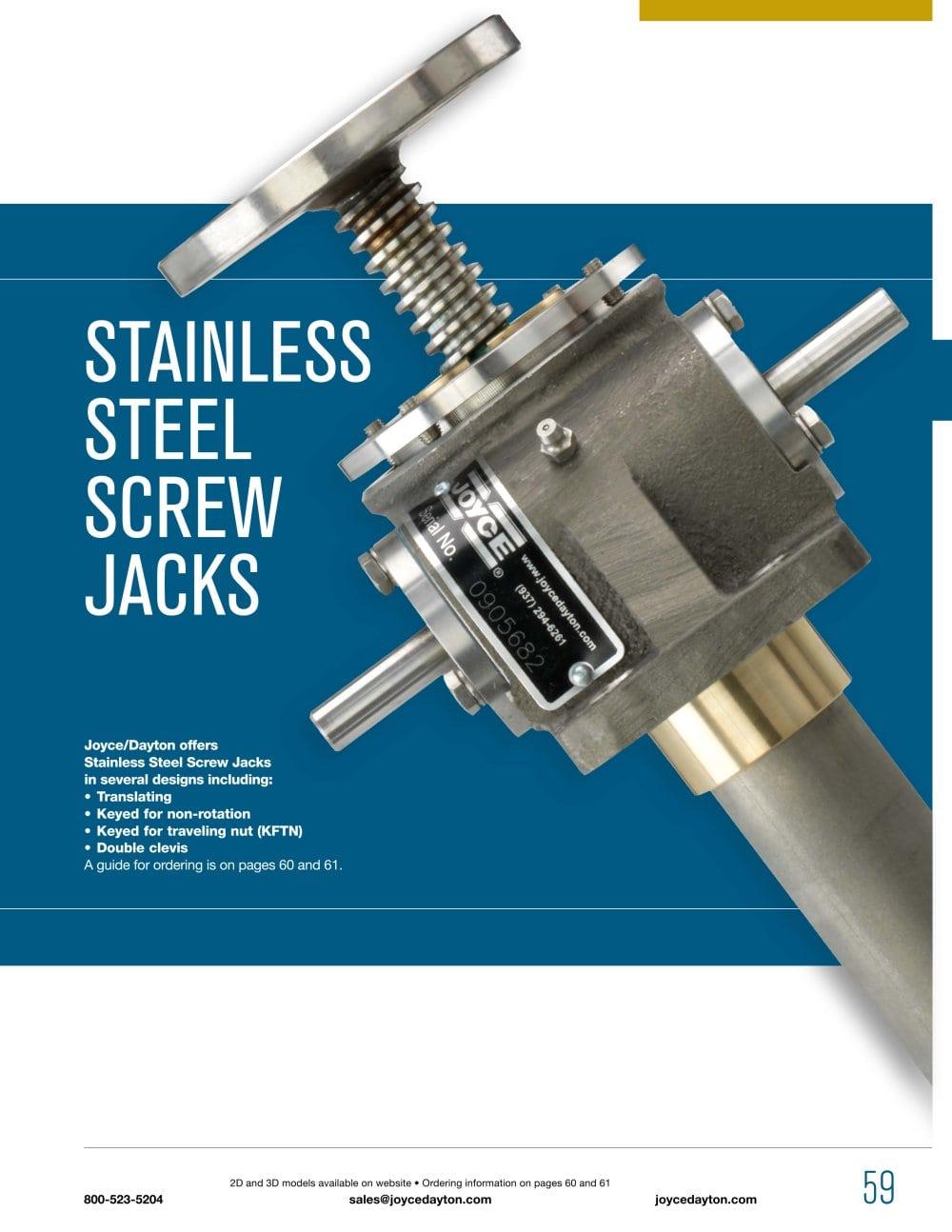 STAINLESS STEEL Screw JACKS - JOYCE - PDF Catalogue   Technical ...