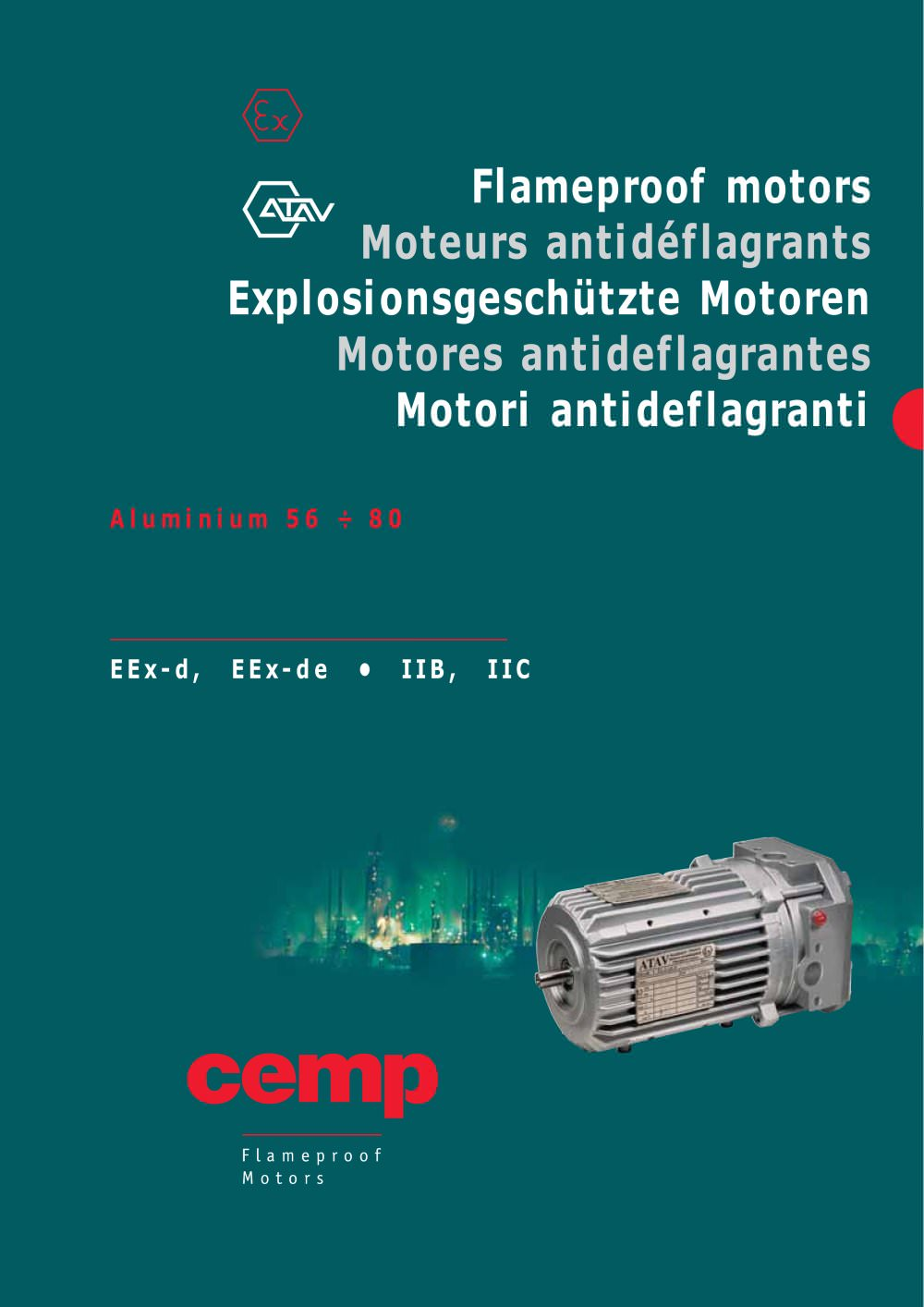 Atav-Flameproof Motors - series F 56-80 - Cemp srl - PDF Catalogue ...