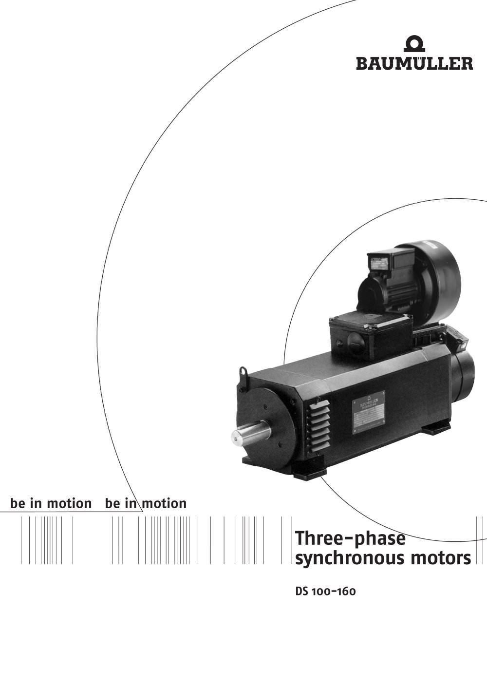 Three phase synchronous motors DS 100-160 - 1 / 36 Pages