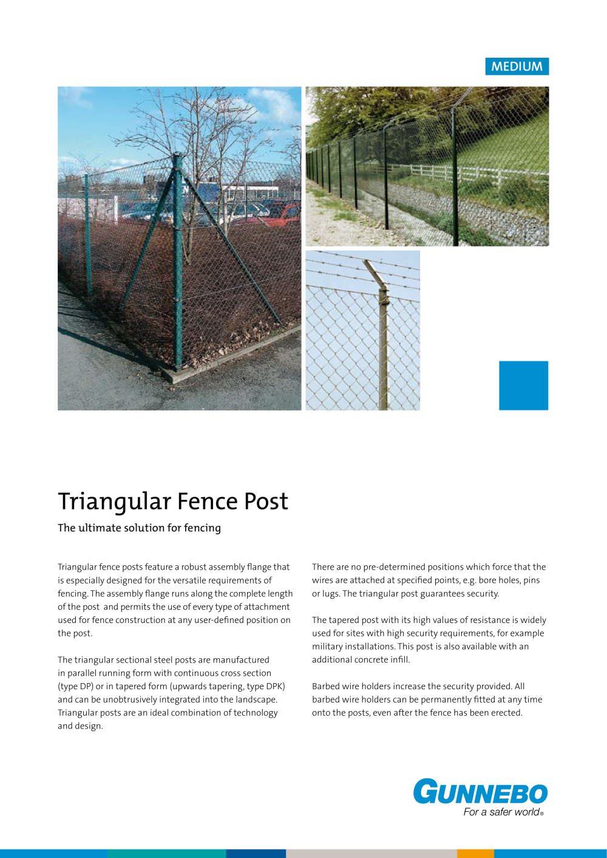 Triangular-FencePost-2p-GB-lo - Gunnebo - PDF Catalogue | Technical ...
