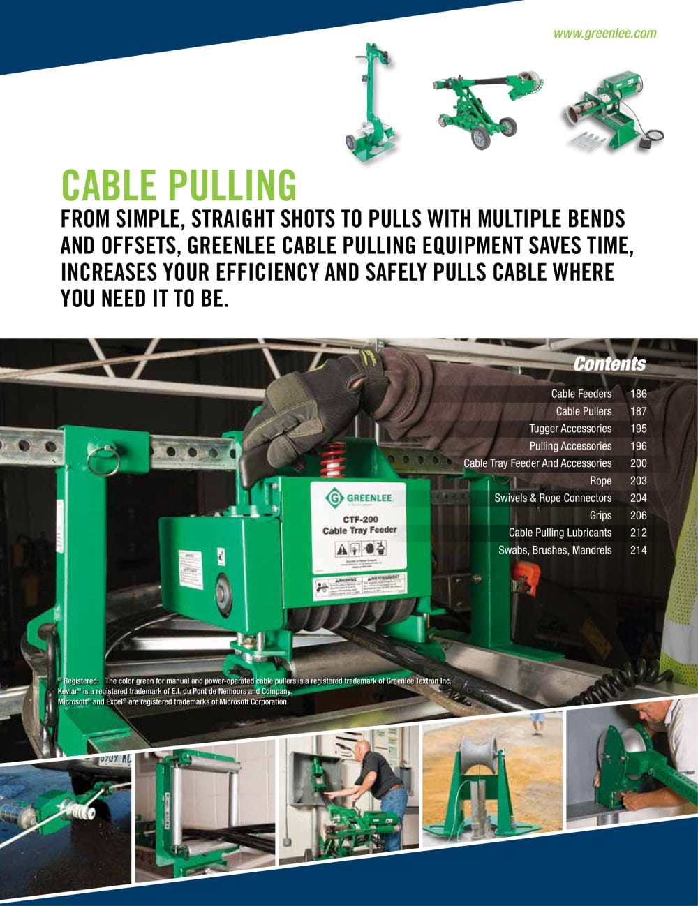 Cable Pulling - GREENLEE - PDF Catalogue | Technical Documentation ...