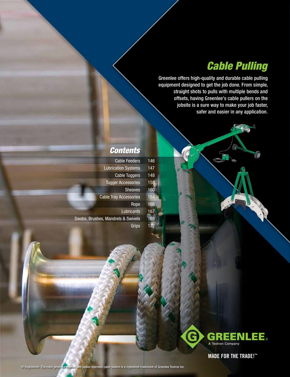 Cable Pulling. pages 145 to 176 - GREENLEE - PDF Catalogue ...