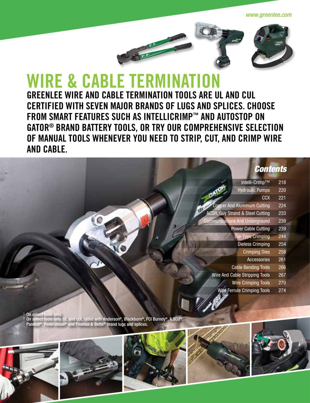 Wire & Cable Termination - GREENLEE - PDF Catalogue | Technical ...
