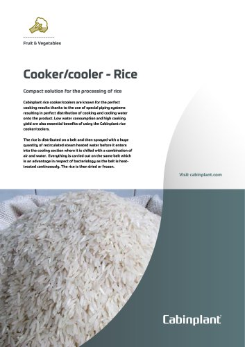Cooker/cooler - Rice