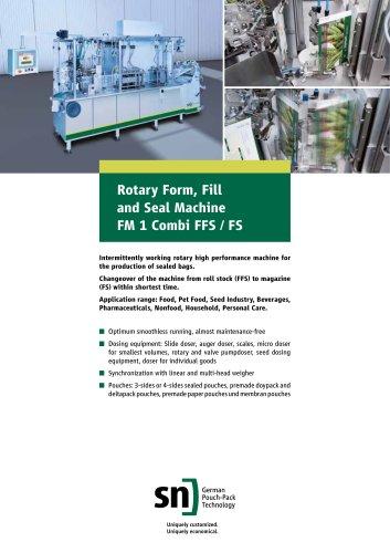 Rotary Form, Fill and Seal Machine FM 1 Combi FFS / FS