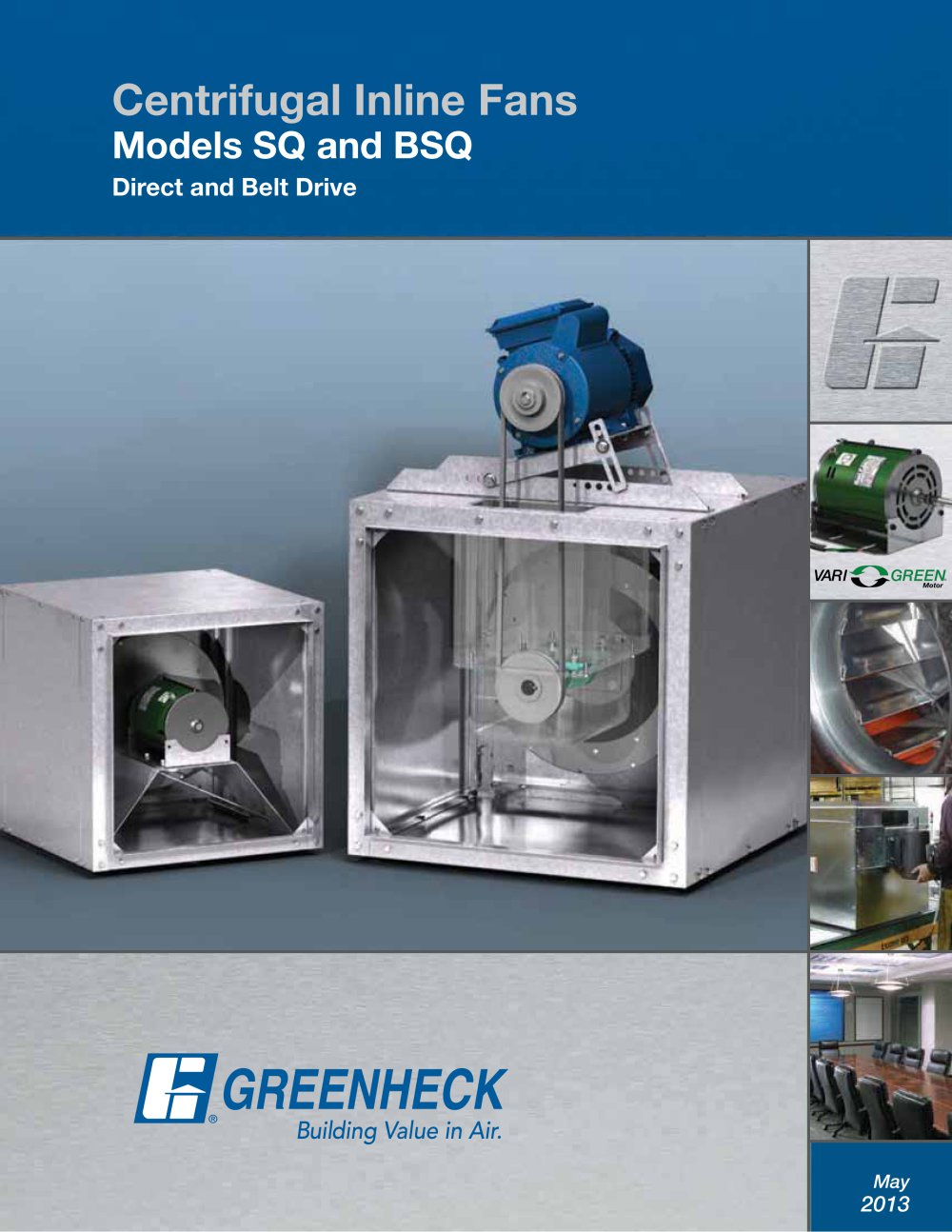 Inline Fans Models SQ and BSQ Greenheck PDF Catalogue