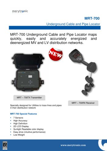 MRT-700: Undergound Pipe and Cable Locator - Merytronic - PDF ... on