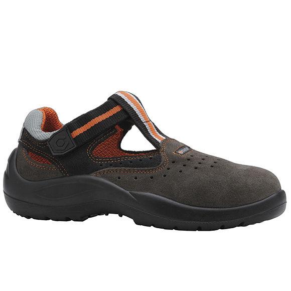 a817a15c57f calçado de segurança de proteção mecânica   S1P   em couro   aberto - B0116