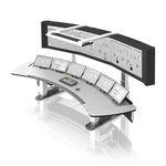 terminal com teclado / de piso / de controle / de visualização