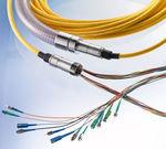 cabo montado de transmissão de dados / de fibra óptica / flexível