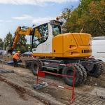 escavadeira intermédia / com rodas / para construção civil / a diesel