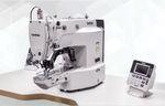 máquina de costura de agulha única / para pregar botões / ponto fixo / eletrônica