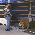 rampa niveladora para doca / móvel / em alumínio