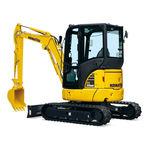 miniescavadeira / de esteiras / a diesel / para construção civil