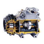 compressor de ar / estacionário / com motor elétrico / de pistão