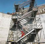escada reta / metálica / de emergência