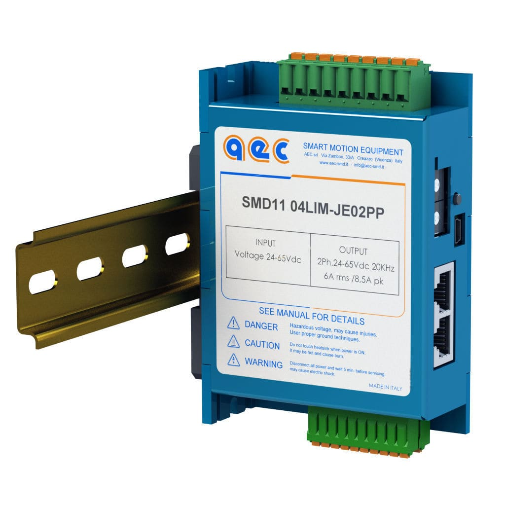 Stepper motor controller / compact / closed-loop / DIN rail