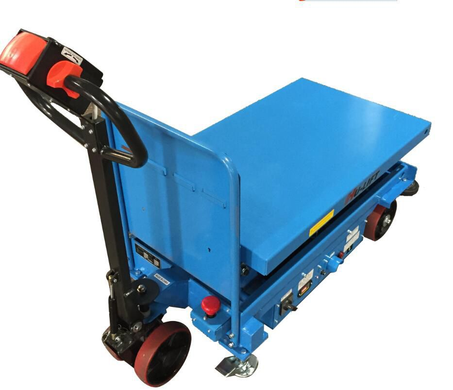 Double-scissor lift table / electric / mobile / for