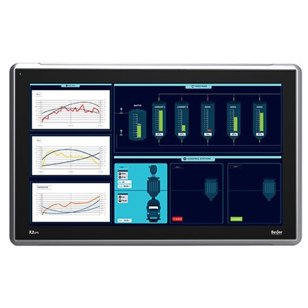 HMI terminal with touch screen / panel-mount / 1920 x 1080 / ARM