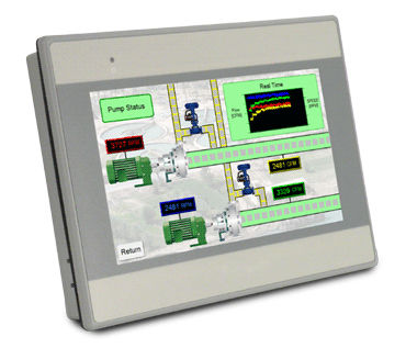 HMI terminal with touch screen / panel-mount / 800 x 600