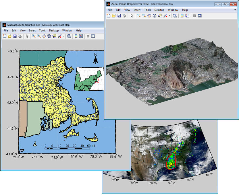 Matlab Mapping Toolbox Mapping software / geotechnical data analysis / visualization  Matlab Mapping Toolbox