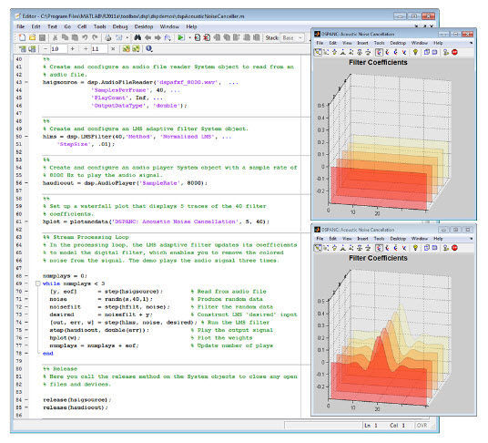 Rapid prototyping software / signal processing / design
