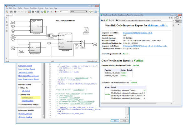 Inspection software Simulink Code Inspector™ The MathWorks