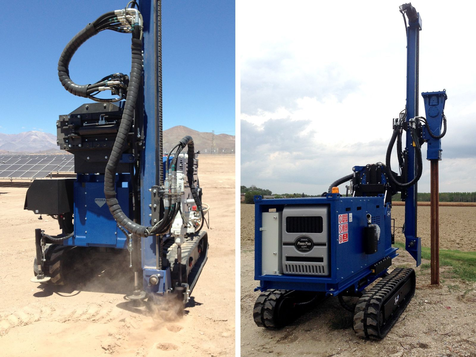 Piling drilling rig / crawler / tophammer / rotary - JOY 2 SOLAR