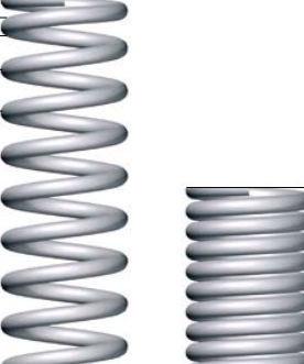 Compression spring DIN 2098coiledsteel