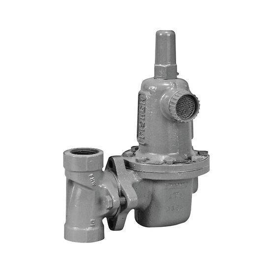 Gas pressure regulator and reducer / for natural gas