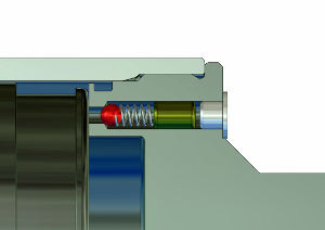 Hydraulic cylinder / single-acting / with integrated