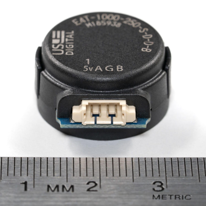 Miniature rotary encoder / incremental / optical / shaft