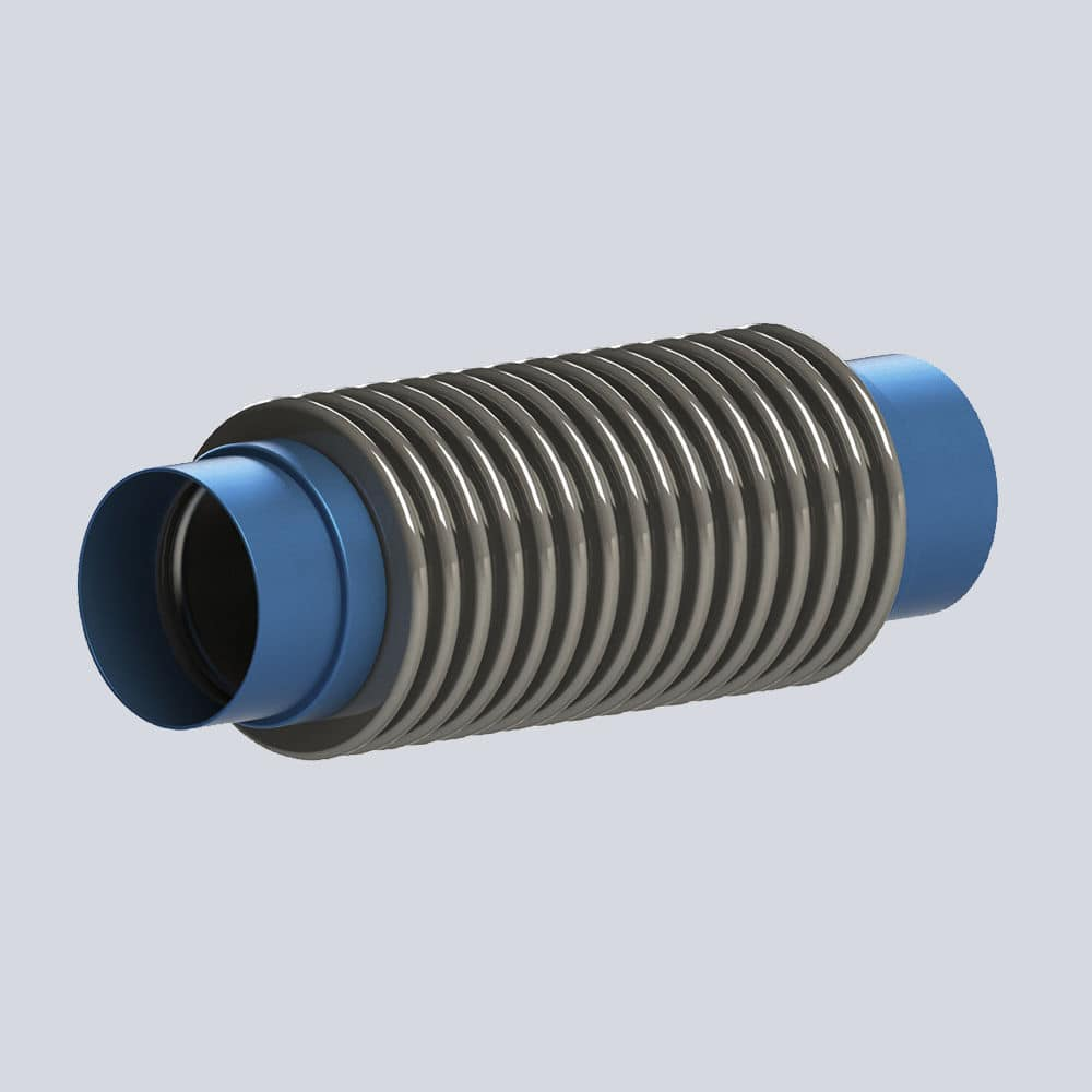 Metal pipe expansion joint / round / weld-on - TULPAR