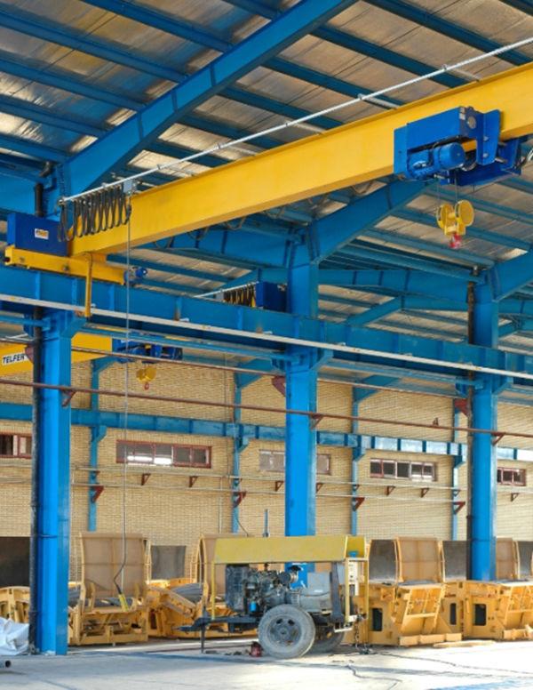 Single-girder overhead crane / for warehouses / with hoist / light