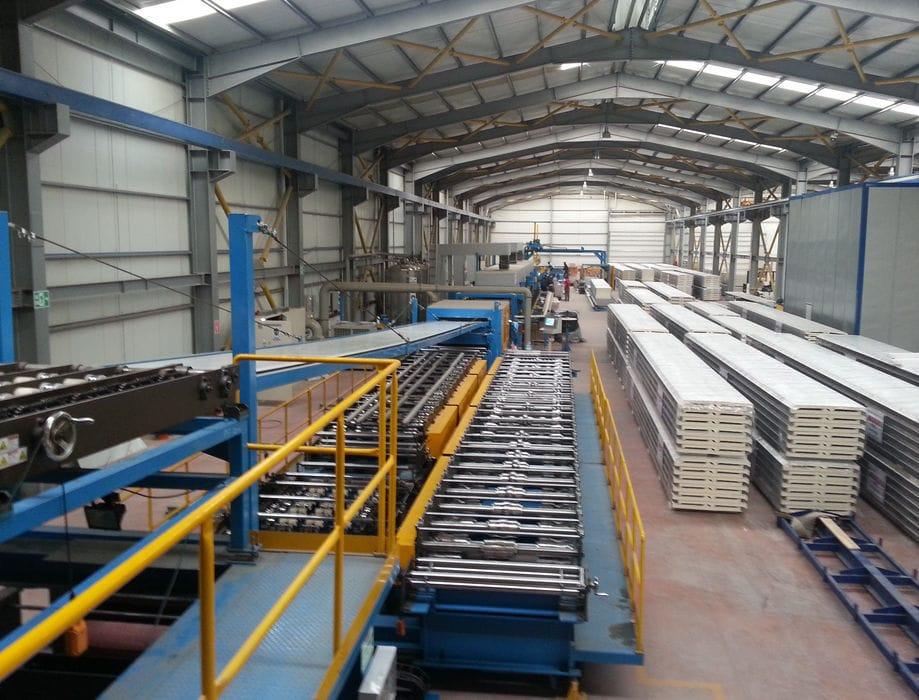 PUR sandwich panel production line / automatic / continuous