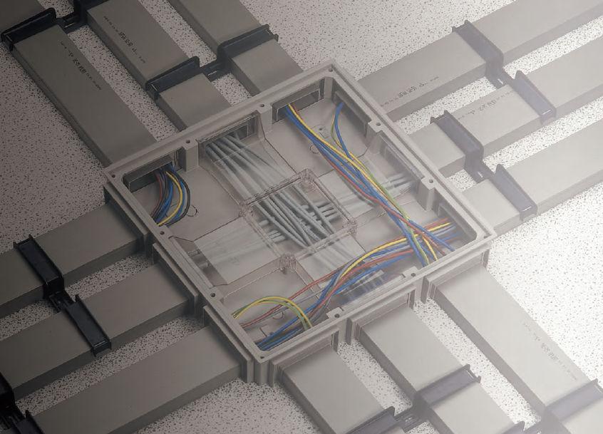 Cabling Trunking 2 M Talpa Series Canalplast Pvc Underfloor