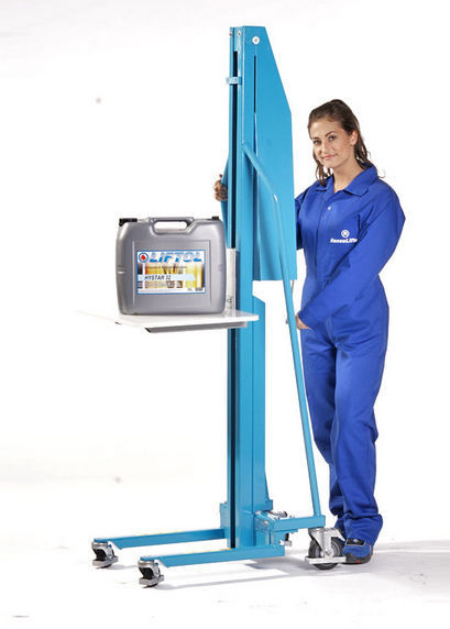 Column type goods lift / hand crank / manual / mobile - MES