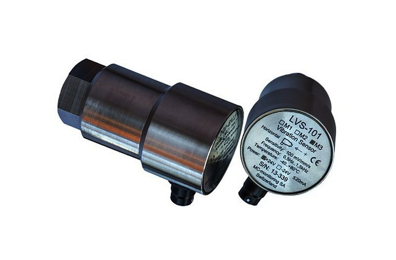 Passive vibration sensor / electro-dynamic / rotary machine