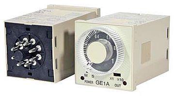 DIN 레일 장착 시간 계전기 - GE1A 시리즈 - IDEC - 패널 장착