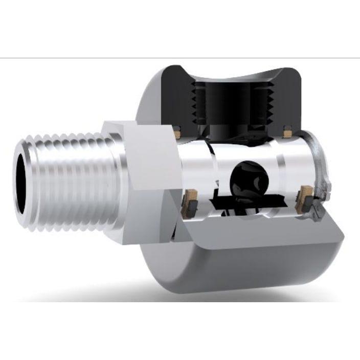 Air rotary union / for vacuum / hydraulic / high-pressure