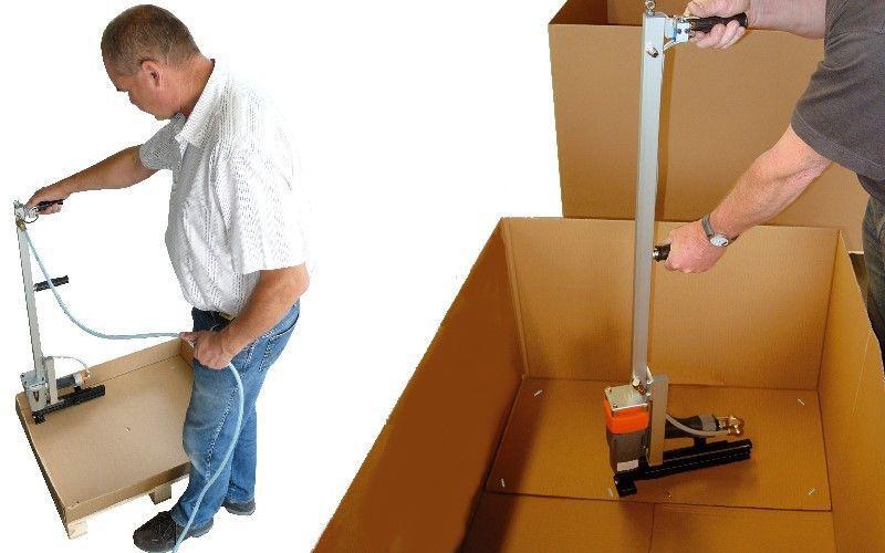 Long-handle stapler / pneumatic / for cardboard boxes / for carton