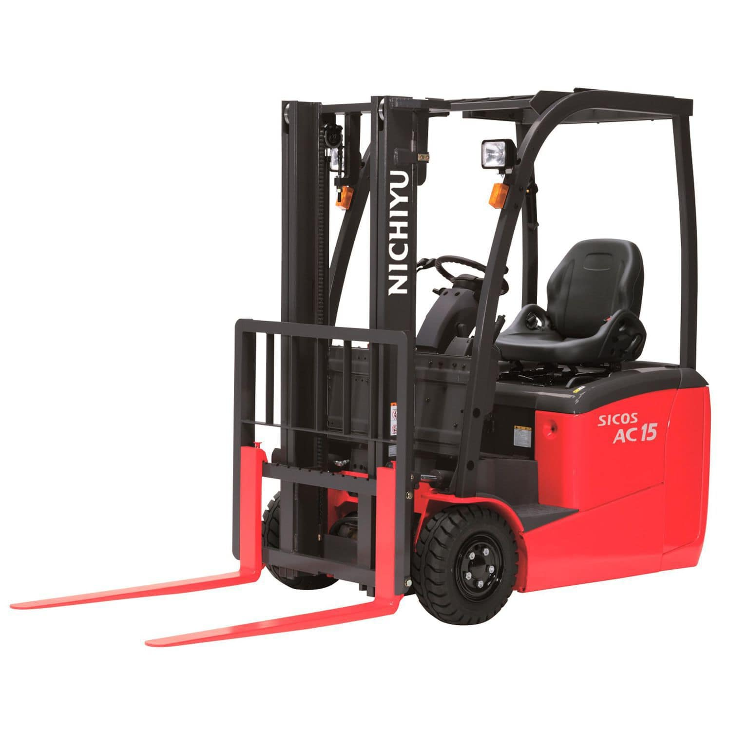 Electric forklift / ride-on / counterbalanced / 3-wheel