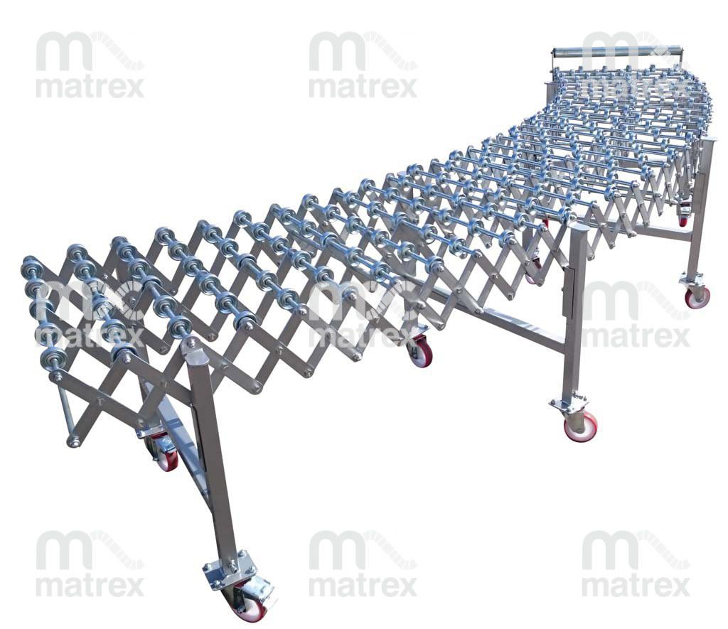 Skate wheel conveyor / for assembly lines / for logistics