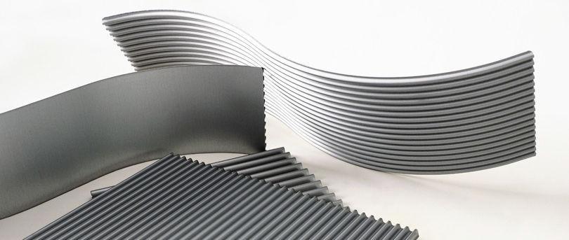 Corrugated aluminum core sandwich panel / aluminum facing