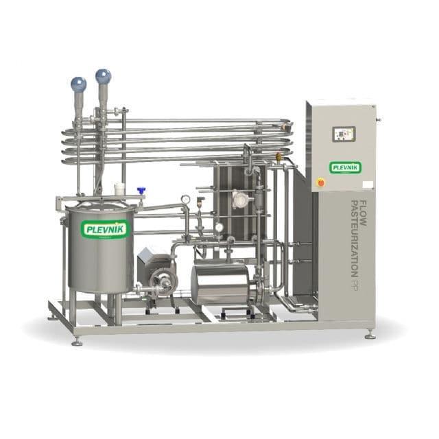 Milk pasteurizer / for dairy products / continuous - Plevnik