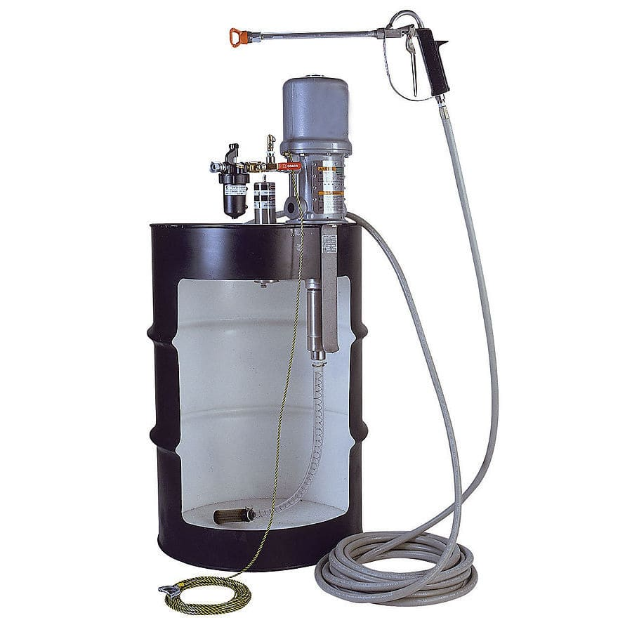 Chemical pump / air-driven / submersible / industrial