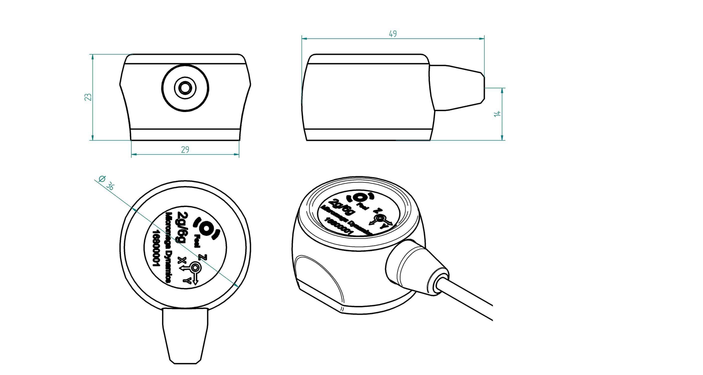 mems vibration sensor - recovib feel 2  6g - micromega-dynamics - recovib   electronic