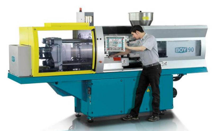 Horizontal injection molding machine / servo-hydraulic BOY 100 E Dr  Boy